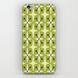 Mid Century Modern Star Pattern 541 Chartreuse iPhone Skin