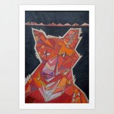Pete the Fox Art Print