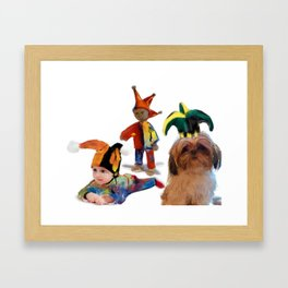 Dares to be a fool Framed Art Print