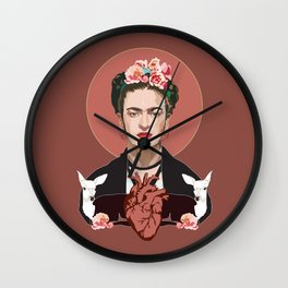 Frida Kahlo (Dark) Wall Clock