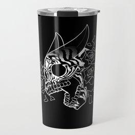 Skull 'n' Roses (NightmareNetty-Black&White) Travel Mug