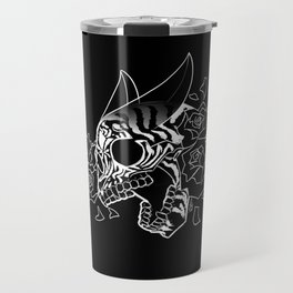 Skull 'n' Roses (NightmareNetty-Black&White) Travel Mug