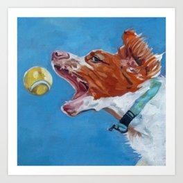 Brittany Spaniel Dog Portrait Art Print