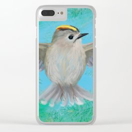 Goldcrest in top Clear iPhone Case