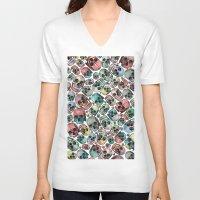 skulls V-neck T-shirts featuring Skulls by Devin McGrath