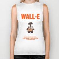 wall e Biker Tanks featuring Wall-E by FunnyFaceArt