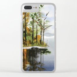 Watercolor Bear Creek Cove Clear iPhone Case