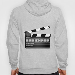 Car Chase Clapperboard Hoody