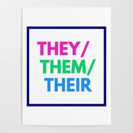 Polysexual Nonbinary Pride Poster