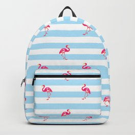Flamingo, tropical summer, Flamingo pattern, blue Backpack