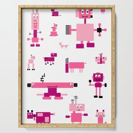 Robots-Pink Serving Tray