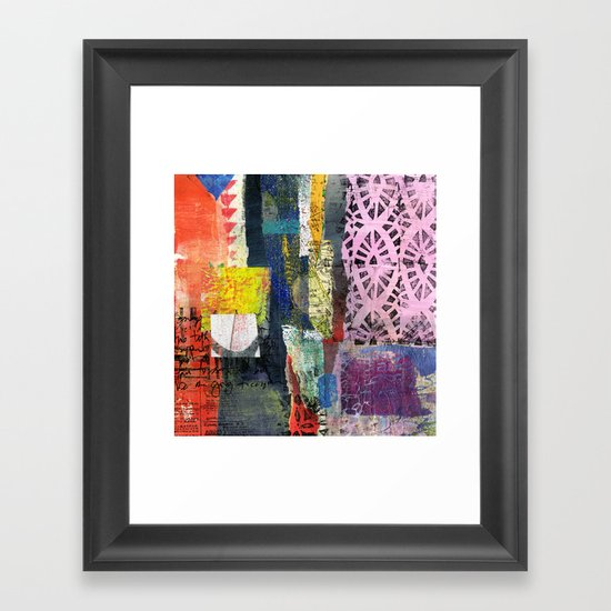 Collage 7 Framed Art Print