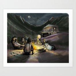 Warm By the Moon Art Print