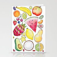 fruits Stationery Cards featuring Fruits by Hacklock