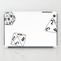 dungeons and dragons iPad Cases featuring Dungeons and Dragons Dice by mrcarter