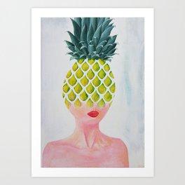 Pineapple Tranformation Art Print