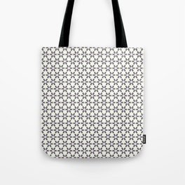 White, Black and Gold Triangular Collection. Tote Bag