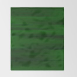 Emerald Green and Black Abstract Throw Blanket