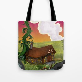 Jack and the Beanstalk Cottage in the evening Tote Bag