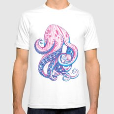 Curls White Mens Fitted Tee MEDIUM
