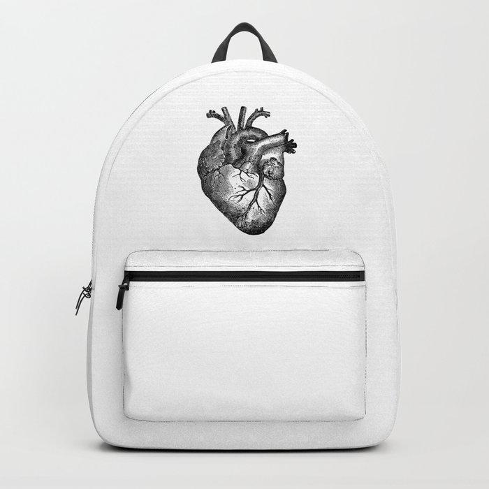 Vintage Heart Anatomy Rucksack