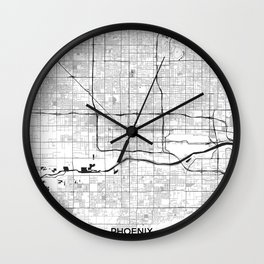 Phoenix Map Gray Wall Clock
