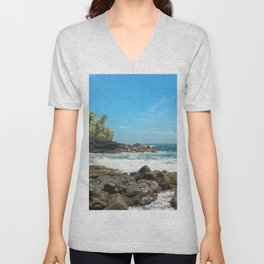 Hawaiian Ocean Blue Unisex V-Neck