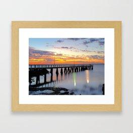 Wellington Point Jetty Sunrise Framed Art Print
