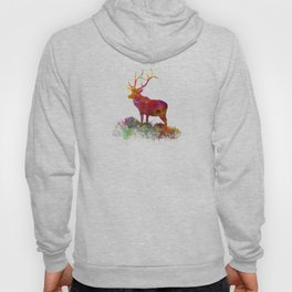 Elk 02 in watercolor Hoody