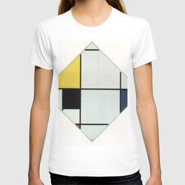 Piet Mondrian - Lozenge Composition with Yellow, Black, Blue, Red, and Gray T-shirt