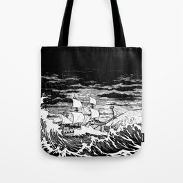 Galleon (line) Tote Bag