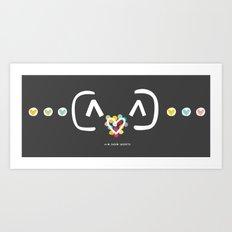 HAPPY LOVE 02 Art Print