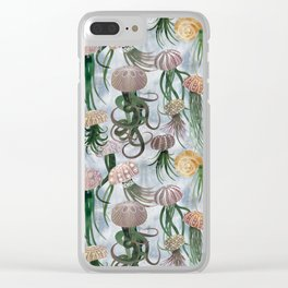 "Seamless Pattern ""Landed jellyfish"" for textile/ wallpaper/ wrapping paper Clear iPhone Case"
