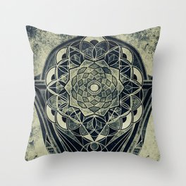 Sacred Geometry for your daily life -  Galactic OHM Throw Pillow