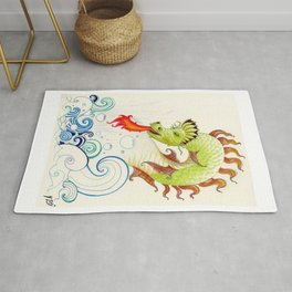A happy dragon Rug