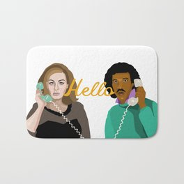 Two People Saying Hello - By Cup of Sarcasm Bath Mat
