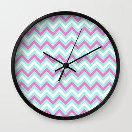 Tricolor Chevron 6 - more colors Wall Clock