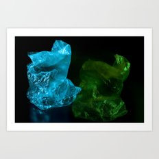 Recycling Plastic Art Print