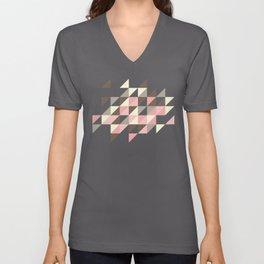 Triangles [strawberry mousse] Unisex V-Neck