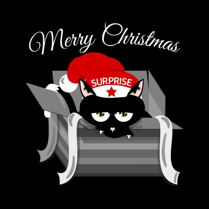 Naughty Cat Merry Christmas Duvet Cover