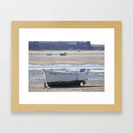 White  boat Framed Art Print