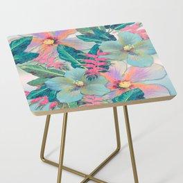 Aqua Ginger Alohas Side Table