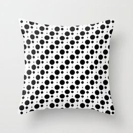 Black Pearls - Baby Stimulation Pattern Throw Pillow