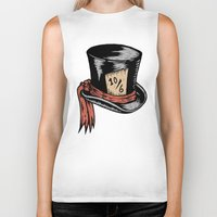 mad hatter Biker Tanks featuring Mad Hatter by Countmoopula