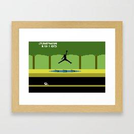 JUMPMAN Framed Art Print