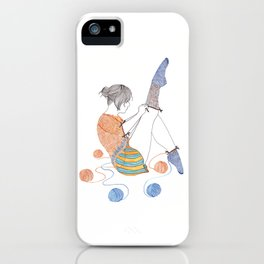 Knitster Girl Socks iPhone Case