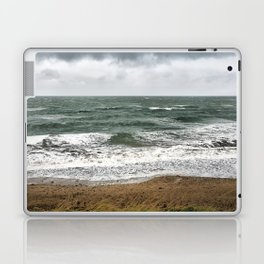 Land and sea under stormy clouds Laptop & iPad Skin