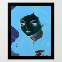 doll Art Prints featuring Doll by Lily Art