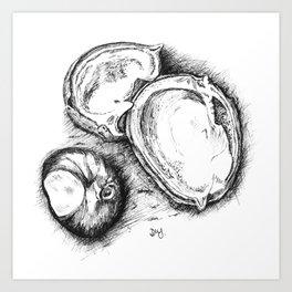 Fallen Chestnuts Art Print