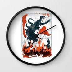 A Jersey Devil Haunting Wall Clock